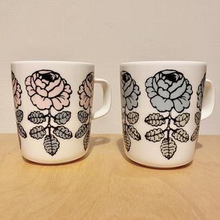 marimekko - marimekko マリメッコ ヴィヒキルース マグカップ 2個セット ピンク