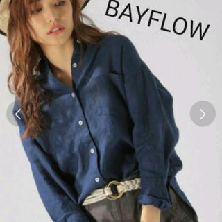ベイフロー(BAYFLOW)のベイフロー リネンシャツ 紺 (シャツ/ブラウス(長袖/七分))