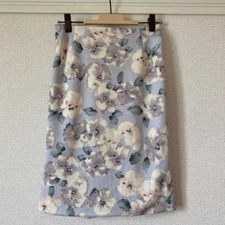 アンデミュウ(Andemiu)の花柄スカート(ひざ丈スカート)