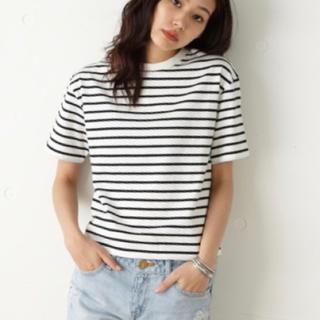 moussy - moussy マウジー ボーダーTシャツ 白 黒