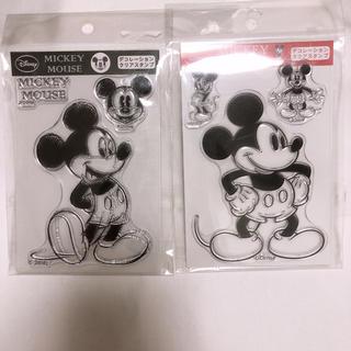 ミッキーマウス デコレーションクリアスタンプ 2種類