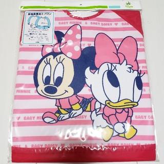 ディズニー(Disney)の新品未開封ベビーミニーデイジー長袖食事用エプロン(お食事エプロン)