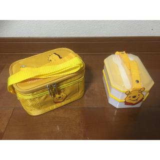 クマノプーサン(くまのプーさん)のプーさんの保冷バックと弁当箱(弁当用品)