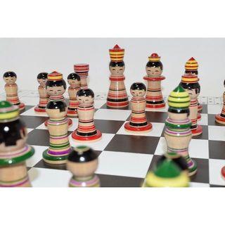 チェスセット こけし顔定番こけスセット(オセロ/チェス)