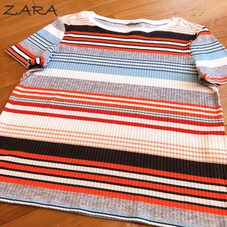 ザラ(ZARA)のZARA マルチボーダー Tシャツ ザラ(Tシャツ(半袖/袖なし))