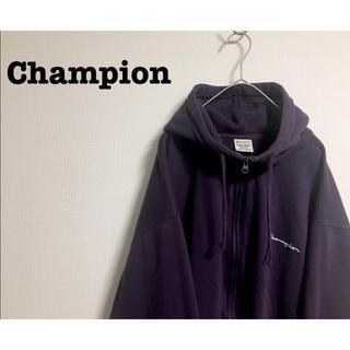 Champion - 古着 Champion ジップ ビッグパーカー オーバーサイズ ユニセックス