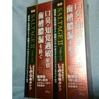 サンスター(SUNSTAR)の🌸🌸新品 未開封🌸🌸 赤ソルテージ 2本(歯磨き粉)
