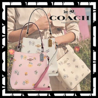 COACH - 新品コーチたんぽぽバケットバッグ花柄ショルダーバッグ新作