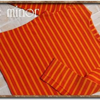Le Minor - ルミノア ボーダー7分袖カットソー オレンジ系
