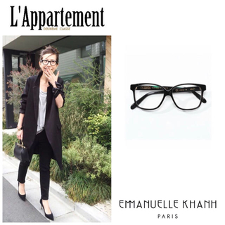 L'Appartement DEUXIEME CLASSE - アパルトモン♡EMMANUELLE KHANH♡ブラックフレームグラス♡メガネ