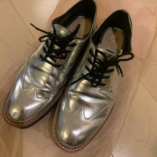 ザラ(ZARA)のZARA  レースアップシューズ  38(ローファー/革靴)