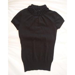 エムプルミエ(M-premier)のエムプルミエ 半袖ニット 36サイズ(ニット/セーター)