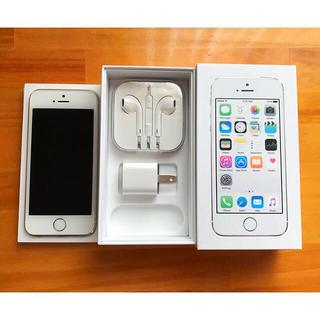 アップル(Apple)のiPhone 5S★美品★32GBシルバー(スマートフォン本体)