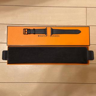 エルメス(Hermes)のアップルウォッチ5  エルメス 限定ブラックレザーバンド 新品未使用(レザーベルト)