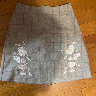 MERCURYDUO - mercuryduo ヘリンボーン刺繍台形スカート