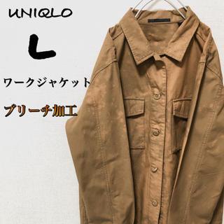 ユニクロ(UNIQLO)の【超カッコいい】ブリーチ UNIQLO ワークジャケット レディース Lサイズ(ミリタリージャケット)