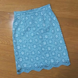 プロポーションボディドレッシング(PROPORTION BODY DRESSING)のプロポ グリーンレーススカート(ひざ丈スカート)