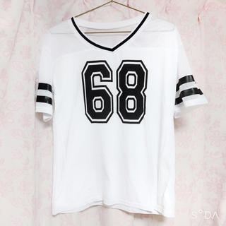 WEGO - 売りつくし限定タイムセール ナンバーメッシュTシャツ 白ホワイト