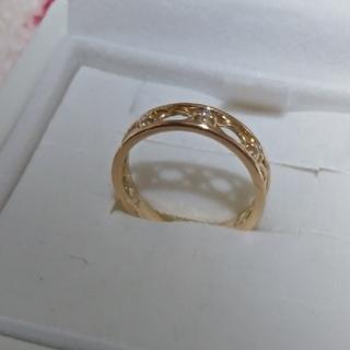 ヴァンドームアオヤマ(Vendome Aoyama)の新品同様 3号 ヴァンドーム青山  透かし ダイヤ ピンキー(リング(指輪))