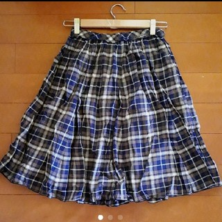 ベルメゾン(ベルメゾン)のベルメゾン コットン チェック柄 膝丈スカート(ひざ丈スカート)
