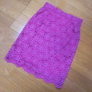 プロポーションボディドレッシング(PROPORTION BODY DRESSING)のプロポ ピンクレーススカート(ひざ丈スカート)