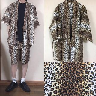 コムデギャルソン(COMME des GARCONS)のレオパード 豹柄 浴衣 ガウン 羽織り 着物 セットアップ 甚平(シャツ)