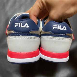 FILA - FILA キッズスニーカー白