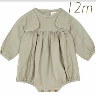 Caramel baby&child  - yellowpelota イエローペロータ グリーン ベストロンパース 12m