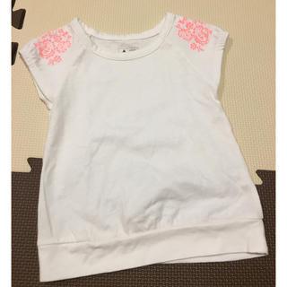 babyGAP - babyGap 肩に蛍光オレンジの刺繍 Tシャツ 12〜18m 80cm