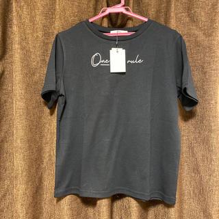 グレイル(GRL)の新品未使用品 GRL ブラック Tシャツ(Tシャツ/カットソー(半袖/袖なし))