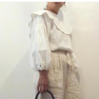 nest Robe - ito アトリエイト big collar tops 白 作家 ブラウス
