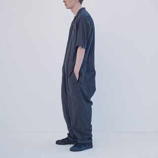 COMOLI - 【美品】comoli オールインワン シャンブレー サイズ1