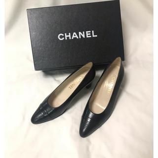 CHANEL - 新品同様 CHANEL ビンテージ ココマーク ブラック パンプス シャネル