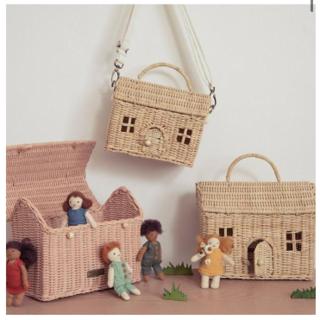 ボンポワン(Bonpoint)の新品✦1点のみ Olli Ella  Casa Bag(straw)ドールハウス(ポシェット)