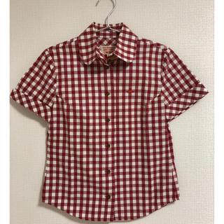 ヴィヴィアンウエストウッド(Vivienne Westwood)のVivienne Westwood 赤ギンガムチェックシャツ(シャツ/ブラウス(半袖/袖なし))