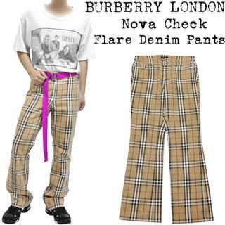 BURBERRY - 希少★BURBERRY★バーバリー★ノバチェック パンツ★デニム★キャメル★44