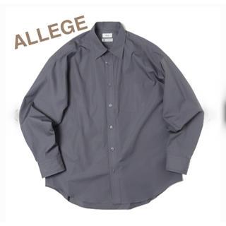 ALLEGE - ALLEGE アレッジ★新品 standard shirt グレー