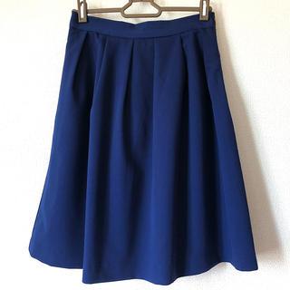ViS - ViS ひざ丈青色スカート