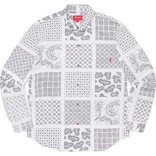 Supreme - Mサイズ Supreme Paisley Grid Shirt White