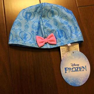 ディズニー(Disney)のスイムキャップ アナ雪 水泳帽子 水色 Disney(水着)