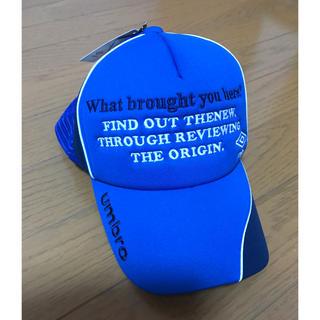 アンブロ(UMBRO)のumbro(アンブロ)撥水メッシュキャップ ジュニアUUDLJC08 (帽子)