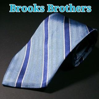 Brooks Brothers - BROOKS BROTHERS  レジメンタル ネクタイ  水色/ネイビー