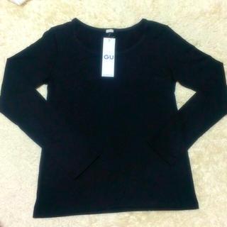 ジーユー(GU)の無地 黒ロンT(Tシャツ(長袖/七分))