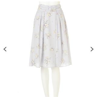 プロポーションボディドレッシング(PROPORTION BODY DRESSING)のフラワーブーケスカート♡ブルー♡花柄(ひざ丈スカート)