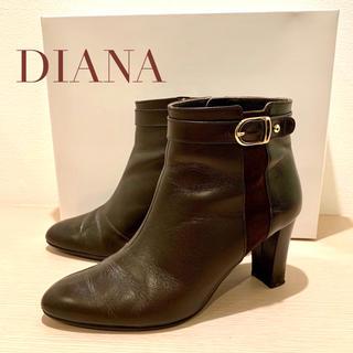 DIANA - DIANA ダイアナ ショートブーツ 23.5cm ダークブラウン
