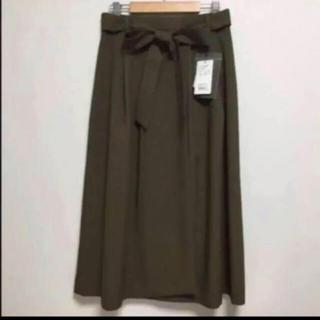 アーバンリサーチロッソ(URBAN RESEARCH ROSSO)のウエストリボンタックススカート(ロングスカート)
