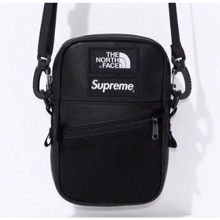 Supreme - Supreme TNF Leather Shoulder Bag 黒
