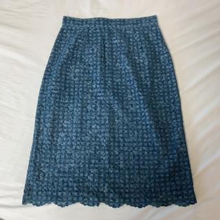 プロポーションボディドレッシング(PROPORTION BODY DRESSING)のフロッキーチェックタイトスカート(ひざ丈スカート)