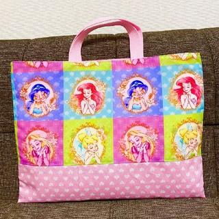 プリンセス レッスンバッグ 絵本袋 手提げ袋 アリエル ラプンツェル ジャスミン(バッグ/レッスンバッグ)