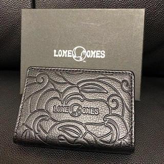 ロンワンズ(LONE ONES)の新品LONE ONESロンワンズ定番メイティングフライトレザーカードケース黒(名刺入れ/定期入れ)